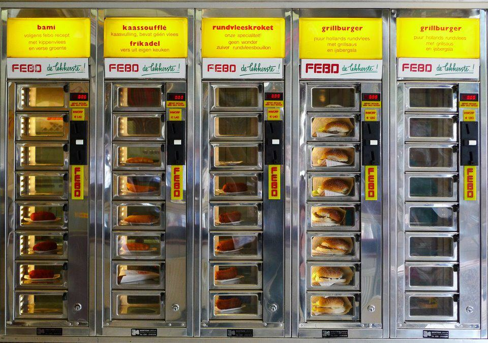 Febo S Fastfood Wall Vending Machines Heavenly Holland