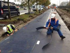 solar bicycle path