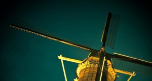Windmill 'The Rose' in Delft (South Holland)