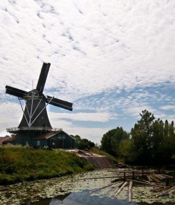 Windmill 'Bolwerksmolen' in Deventer (Overijssel)