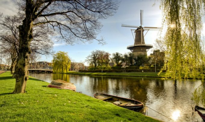 Windmill 'De Valk' in Leiden (South Holland)