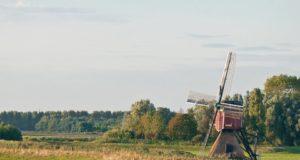 Windmill 'Buurtermolen' in Rijpwetering (South Holland)