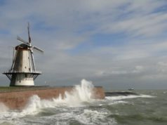 Windmill 'Oranjemolen' in Vlissingen (Zeeland)