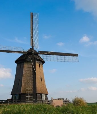 Windmills Schermerhorn near Alkmaar (North Holland)