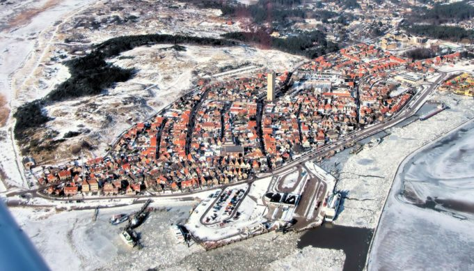 aerial photo of Terschelling in January 2012