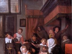 painting: The Feast of Saint Nicholas by Jan Steen (c. 1668)