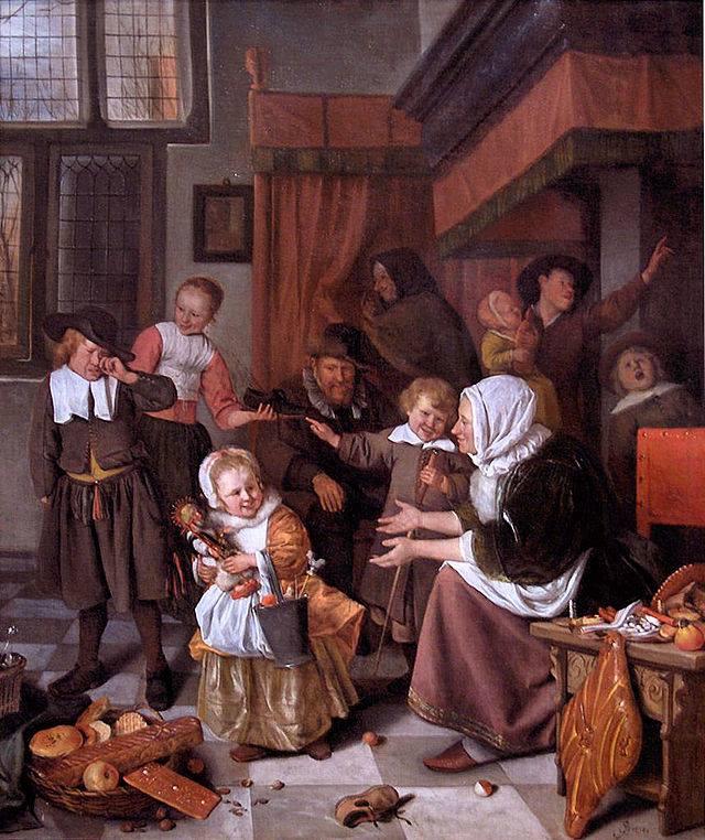 painting: The Feast of Saint Nicholas by Jan Steen (c. 1668)