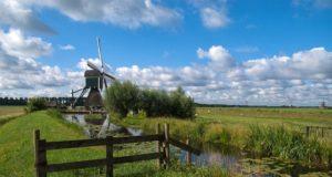 Wingerdse Windmill in Bleskensgraaf (South Holland)