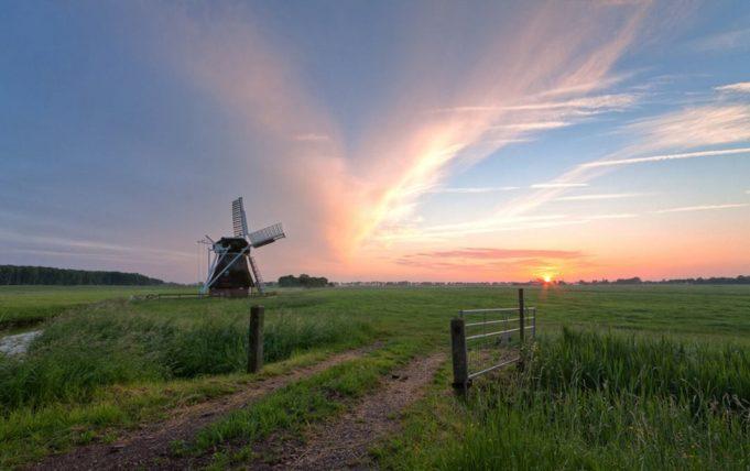 Windmill 't Witte Lam' in Groningen