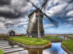 Windmill 'Noorder M' in Sint-Maartensvlotbrug (North Holland)