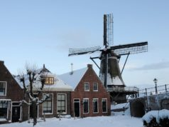 Windmill 'De Kaai' in Sloten (Friesland)