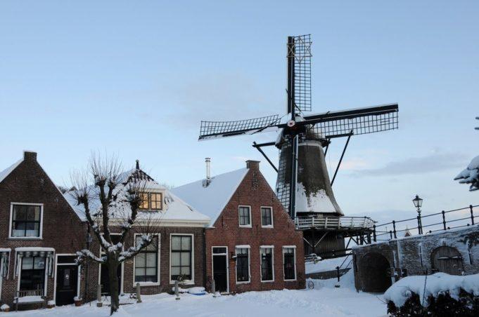 Windmill 'De Kaai' in Sloten (Friesland)