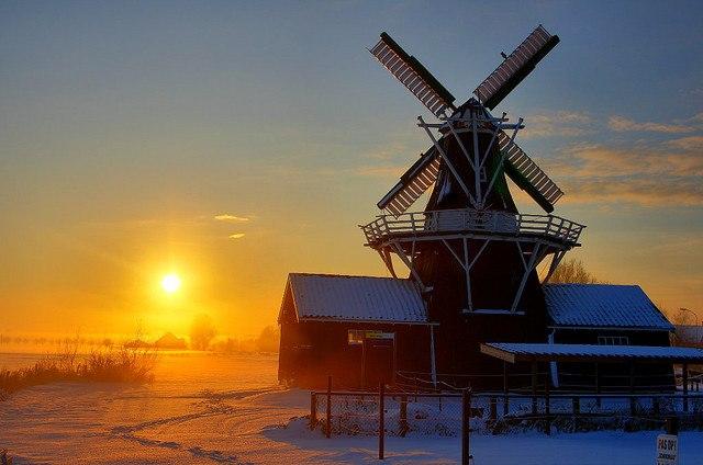 Windmill 'Bovenrijge' in Ten Boer (Groningen)