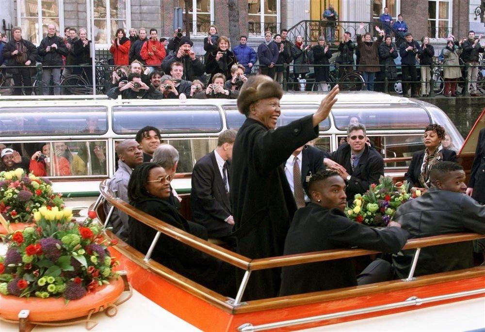 Nelson Mandela in Amsterdam