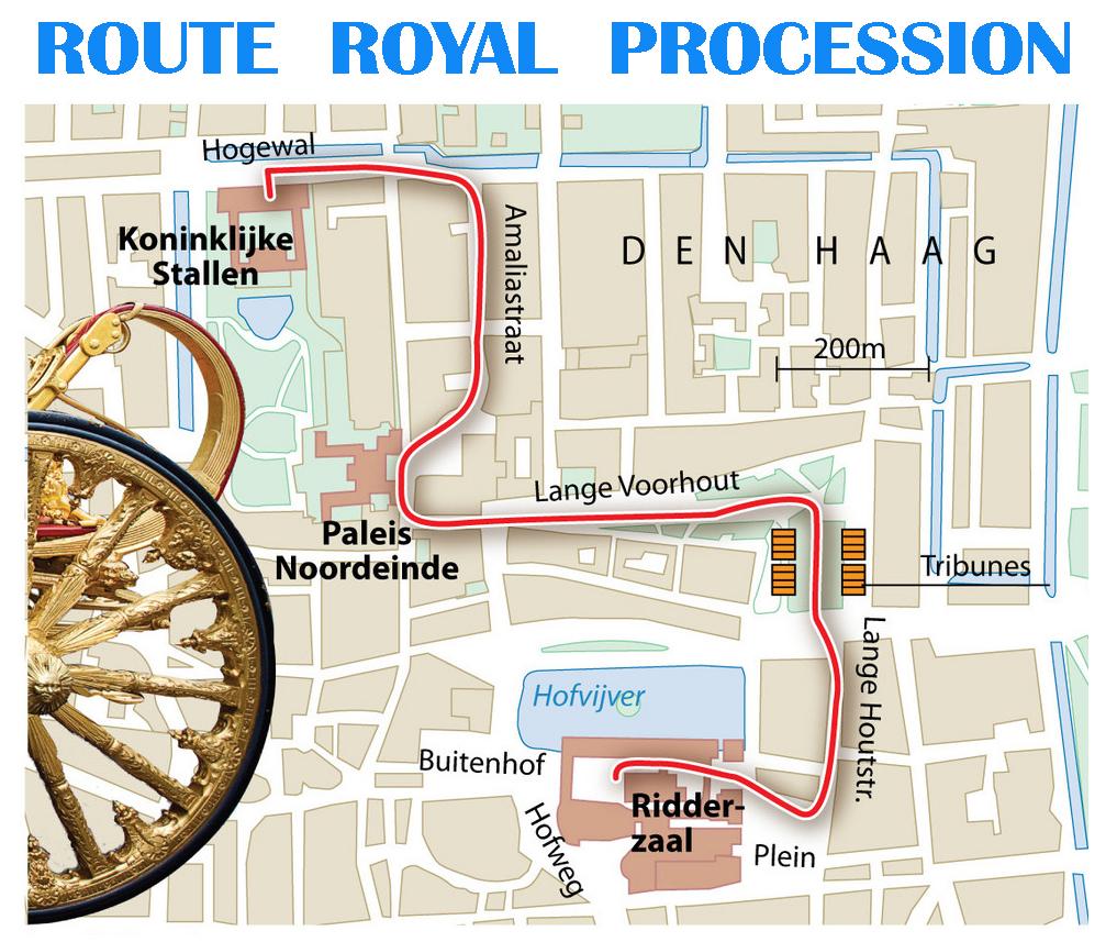 Prinsjesdag route