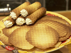 Did you know that 'nieuwjaarsrolletjes' (New Year rolls) are crispy waffles filled with sweet whipcream, traditionally eaten on New Year's Day?