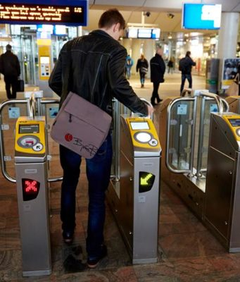 Did you know that as of tomorrow you need an OV chip card or ticket with QR code to open the gates at Amsterdam Central Station? For passengers with a printed or mobile ticket there are special gates with a barcode reader.