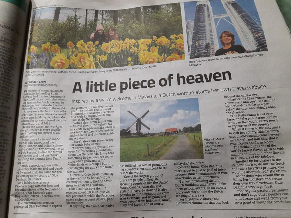 Heavenly Holland in the press